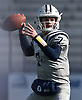 Charlie McKee #7, Oceanside freshman quarterback, throws a pass during the first quarter of the Nassau County football Conference I semifinals against Farmingdale at Shuart Stadium in Hempstead on Saturday, Nov. 10, 2018.
