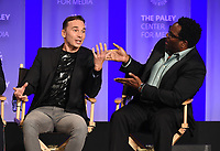 "HOLLYWOOD, CA - MARCH 17: Mark Jackson and Chad L. Coleman at the PaleyFest 2018 - ""The Orville"" panel at the Dolby Theatre on March 17, 2018 in Hollywood, California. (Photo by Scott Kirkland/Fox/PictureGroup)"