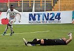 BOGOTÁ – COLOMBIA _ 10-11-2013 / En compromiso correspondiente a la última fecha del Torneo Clausura Colombiano 2013, Patriotas cayó como local 0 – 1 ante Once Caldas en el estadio metropolitano de Techo de Bogotá. / José Izquierdo celebra el único tanto de Once Caldas.