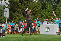 Francesco Molinari (ITA) watches his tee shot on 4 during 1st round of the World Golf Championships - Bridgestone Invitational, at the Firestone Country Club, Akron, Ohio. 8/2/2018.<br /> Picture: Golffile | Ken Murray<br /> <br /> <br /> All photo usage must carry mandatory copyright credit (© Golffile | Ken Murray)