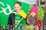Fianna Ni Chuileannain and Nuireann Ni Chathaigh Castegregory fans at the All Ireland Junior Club Championship at Croke park on Sunday..