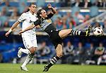 Real Madrid's Pepe against Espanyol's Sergio Garcia during La liga match. September 21, 2010. (ALTERPHOTOS/Alvaro Hernandez).