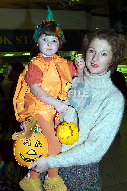 Claudine Healy and her Mother Karen from Cooperhill at the Fancy dress in the Drogheda town Centre.Pic Fran Caffrey Newsfile