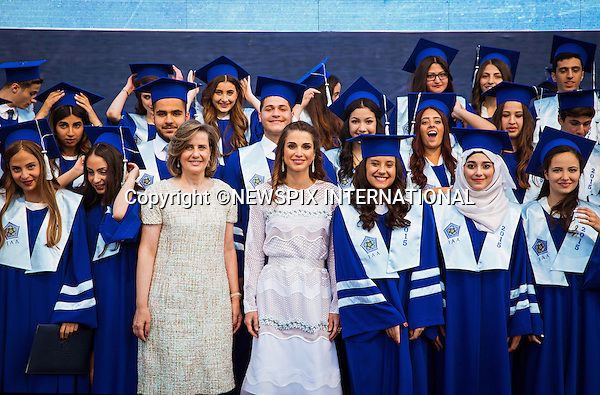 03.06.2015; Amman, Jordan: QUEEN RANIA<br /> attends the Class of 2015 Graduation at the International Academy Amman.<br /> Mandatory Photo Credit: &copy;Royal Hashemite/NEWSPIX INTERNATIONAL<br /> <br /> **ALL FEES PAYABLE TO: &quot;NEWSPIX INTERNATIONAL&quot;**<br /> <br /> PHOTO CREDIT MANDATORY!!: NEWSPIX INTERNATIONAL(Failure to credit will incur a surcharge of 100% of reproduction fees)<br /> <br /> IMMEDIATE CONFIRMATION OF USAGE REQUIRED:<br /> Newspix International, 31 Chinnery Hill, Bishop's Stortford, ENGLAND CM23 3PS<br /> Tel:+441279 324672  ; Fax: +441279656877<br /> Mobile:  0777568 1153<br /> e-mail: info@newspixinternational.co.uk
