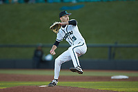 Coastal Carolina Chanticleers relief pitcher Garrett McDaniels (26) in action against the Illinois Fighting Illini at Springs Brooks Stadium on February 22, 2020 in Conway, South Carolina. The Fighting Illini defeated the Chanticleers 5-2. (Brian Westerholt/Four Seam Images)