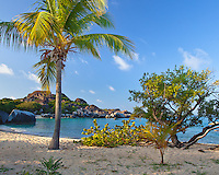 Virgin Gorda, British Virgin Islands, Caribbean <br /> Morning on the beach at Spring Bay, Spring Bay National Park