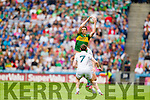 David Moran, Kerry in action against Emmet Bolton, Kildare in the All Ireland Quarter Final at Croke Park on Sunday.