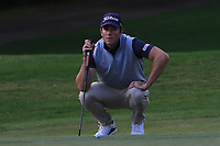 Rhys Enoch (WAL) on the 4th green during Round 3 of the Challenge Tour Grand Final 2019 at Club de Golf Alcanada, Port d'Alcúdia, Mallorca, Spain on Saturday 9th November 2019.<br /> Picture:  Thos Caffrey / Golffile<br /> <br /> All photo usage must carry mandatory copyright credit (© Golffile | Thos Caffrey)