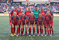 Portland, OR - Saturday May 06, 2017: Portland Thorns FC starting eleven during a regular season National Women's Soccer League (NWSL) match between the Portland Thorns FC and the Chicago Red Stars at Providence Park.