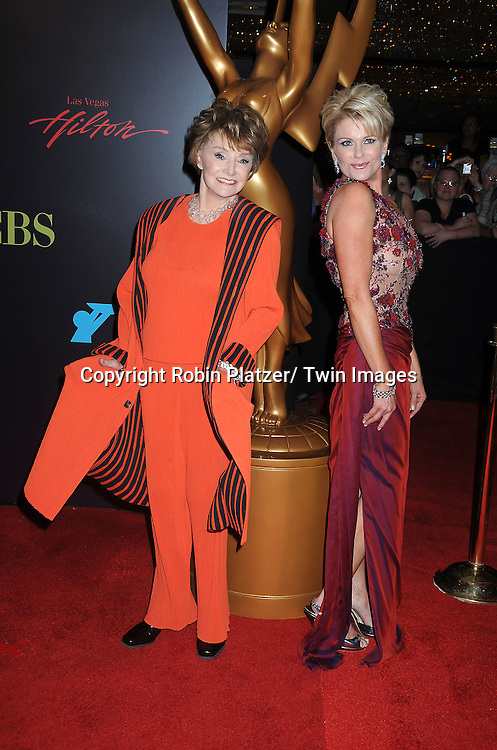 Peggy McCay and Judi Evans  arriving at The 37th Annual Daytime Emmy Awards on June 27, 2010 at The Hilton in Las Vegas, Nevada.