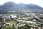 1309-22 0293<br /> <br /> 1309-22 BYU Campus Aerials<br /> <br /> Brigham Young University Campus West looking East, Provo, Sunrise, Y Mountain,  Hinckley Alumni and Visitors Center HC, Tanner Building TNRB, Miller Park MLRP, Track and Field Complex TRAK, Helaman Halls HL<br /> September 6, 2013<br /> <br /> Photo by Jaren Wilkey/BYU<br /> <br /> &copy; BYU PHOTO 2013<br /> All Rights Reserved<br /> photo@byu.edu  (801)422-7322