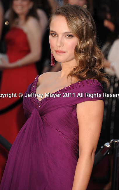 HOLLYWOOD, CA - FEBRUARY 27: Natalie Portman  arrives at the 83rd Annual Academy Awards held at the Kodak Theatre on February 27, 2011 in Hollywood, California.