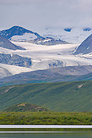 Gulkana glacier and Summit Lake, Alaska Range mountains, Interior, Alaska