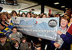 Supporters of John Burke wait to welcome him on his arrival back to Shannon Airport, following his successful attempt, being the first Clare person ever to climb Mount Everest. Photograph by John Kelly.