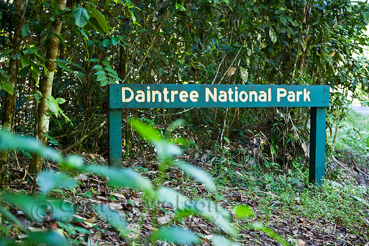 Sign in Daintree National Park, Queensland, Australia