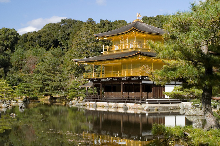 Kinkakuji Temple (Golden Pavilion), World Heritage Site and the number one tourist attraction of Kyoto and Japan.