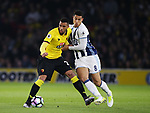 Watford's Etienne Capoue tussles with WBA's Jake Livermore during the Premier League match at Vicarage Road Stadium, London. Picture date: April 4th, 2017. Pic credit should read: David Klein/Sportimage
