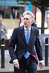 © Joel Goodman - 07973 332324 . 02/10/2017. Manchester, UK. Chancellor PHILIP HAMMOND at the start of the second day of the Conservative Party Conference at the Manchester Central Convention Centre . Photo credit : Joel Goodman