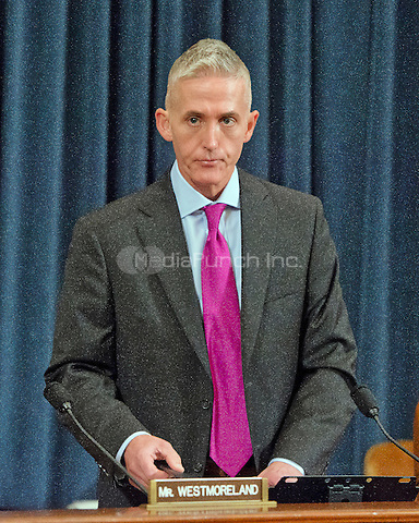 United States Representative Trey Gowdy (Republican of South Carolina), Chairman, US House Select Committee on Benghazi, prior to receiving testimony from former US Secretary of State Hillary Rodham Clinton, a candidate for the 2016 Democratic Party nomination for President of the United States, on Capitol Hill in Washington, DC on Thursday, October 22, 2015.<br /> Credit: Ron Sachs / CNP/MediaPunch