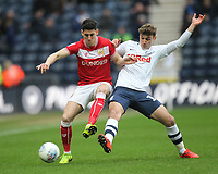 Preston North End's Ryan Ledson battles with  Bristol City's Callum O'Dowda<br /> <br /> Photographer Mick Walker/CameraSport<br /> <br /> The EFL Sky Bet Championship - Preston North End v Bristol City - Saturday 2nd March 2019 - Deepdale Stadium - Preston<br /> <br /> World Copyright © 2019 CameraSport. All rights reserved. 43 Linden Ave. Countesthorpe. Leicester. England. LE8 5PG - Tel: +44 (0) 116 277 4147 - admin@camerasport.com - www.camerasport.com