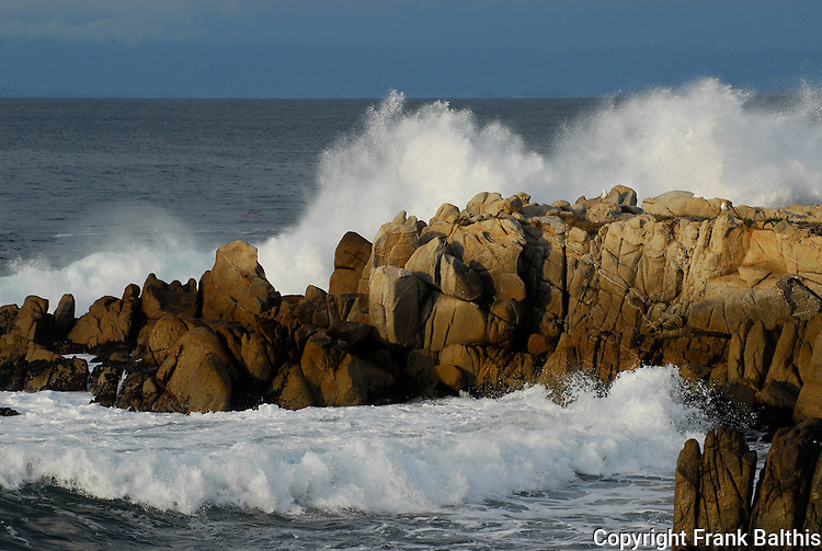 surf and rocks in Pacific Grove