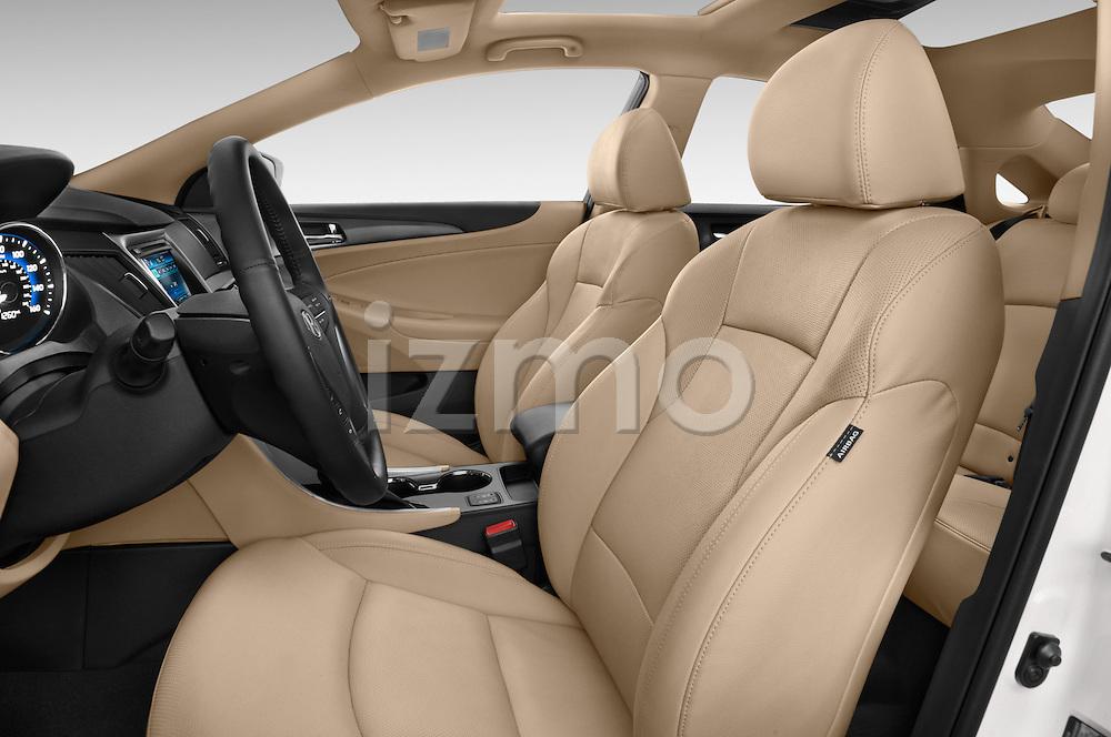 Front seat view of a 2015 Hyundai Sonata  Hybrid 4 Door Sedan front seat car photos