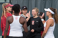 Stanford, CA - Stanford Women's Tennis Host Texas at Taube Family Tennis Center.