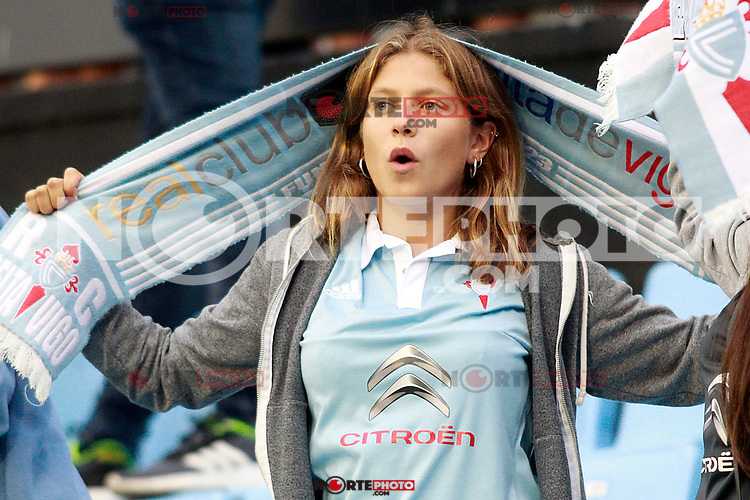 RC Celta de Vigo's supporter during La Liga match. September 10,2017. (ALTERPHOTOS/Acero) /NortePhoto.com