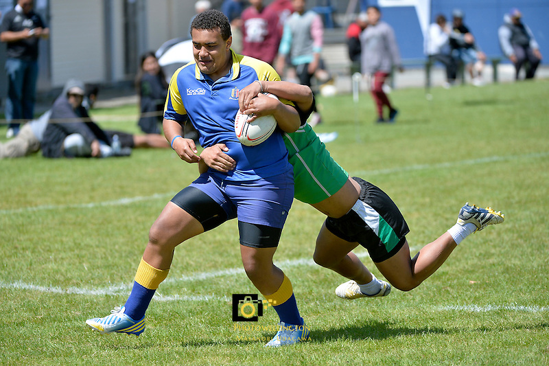 Action from the Condor Rugby 7&rsquo;s Tournament at Naenae College, Lower Hutt, New Zealand on Monday 28 October 2013.<br />