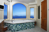 April 30, 2015_San Diego, CA_USA_  | The master bathroom with bay views at a Crown Point home.   | Photo Credit: Photo by K.C. Alfred/UT San Diego/Copyright 2015 . . . .