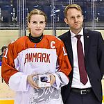 06.01.2020, BLZ Arena, Füssen / Fuessen, GER, IIHF Ice Hockey U18 Women's World Championship DIV I Group A, <br /> Japan (JPN) vs Daenemark (DEN), <br /> im Bild Ehrung beste Spielerin, Sofie Damgaard (DEN, #11)<br />  <br /> Foto © nordphoto / Hafner