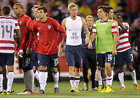COLUMBUS, OHIO - SEPTEMBER 11, 2012:  Brek Shea (11) of the USA MNT honors the memory of Columbus Crew player Kirk Urso against  Jamaica during a CONCACAF 2014 World Cup qualifying  match at Crew Stadium, in Columbus, Ohio on September 11. USA won 1-0.