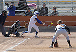 Western Nevada's Madison Gonzalez bats in a college softball game against College of Southern Idaho in Carson City, Nev., on Friday, March 22, 2013..Photo by Cathleen Allison