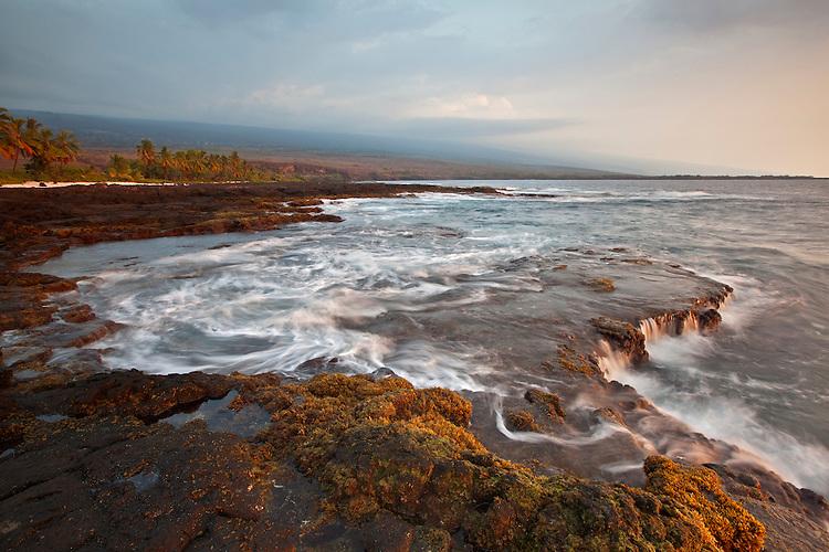 Volcanic coastline in the Pu`uhonua O Honaunau National Historic Park