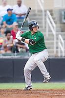 Savannah Sand Gnats designated hitter Matt Oberste (23) at bat against the Kannapolis Intimidators at CMC-Northeast Stadium on June 9, 2014 in Kannapolis, North Carolina.  The Intimidators defeated the Sand Gnats 4-2.  (Brian Westerholt/Four Seam Images)