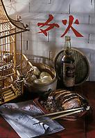 Asie/Chine/Jiangsu/Nankin: Poitrine de porc fumée à la vapeur (plat traditionnel)