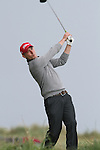 Day one of the Irish PGA championship at Seapoint Golf Club, Oliver Grogan hitting ont the 10th tee....Picture Jenny Matthews/Newsfile.ie