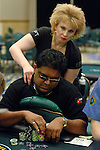 Victor Ramdin gets a massage.