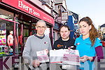 Pat Horgan, Jamie O'Sullivan and Danielle McLoughlin who are asking people to sign their p[etition to save their jobs in Elvery's Sports Killarney