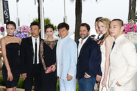 "Zhang Lan Xin, Liao Fan, Yao Xingtong,Jackie Chan, Brett Ratner, Kwone Sang Woo, Laura Weissbecker and Steve Yoo attending the ""Chinese Zodiac"" Photocall during the 65th annual International Cannes Film Festival in Cannes, France, 18th May 2012...Credit: Timm/face to face /MediaPunch Inc. ***FOR USA ONLY***"