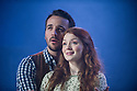 London, UK. 03.04.2014. FINIAN'S RAINBOW opens at the Charing Cross Theatre, in a transfer from the Union Theatre. Music by Burton Lane, Lyrics by E.Y. Harburg, book by E.Y. Harburg and Fred Saidy, adapted by Charlotte Moore. Directed by Phil Wilmott. Picture shows: Joseph Peters (Woody Mahoney)  and Christina Bennington (Sharon). Photograph © Jane Hobson.