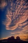 Twilight at Cathedral Rock, near Sedona, Arizona