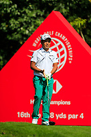 Yuki Inamori (JPN) on the 16th tee during the 3rd round at the WGC HSBC Champions 2018, Sheshan Golf CLub, Shanghai, China. 27/10/2018.<br /> Picture Fran Caffrey / Golffile.ie<br /> <br /> All photo usage must carry mandatory copyright credit (&copy; Golffile | Fran Caffrey)