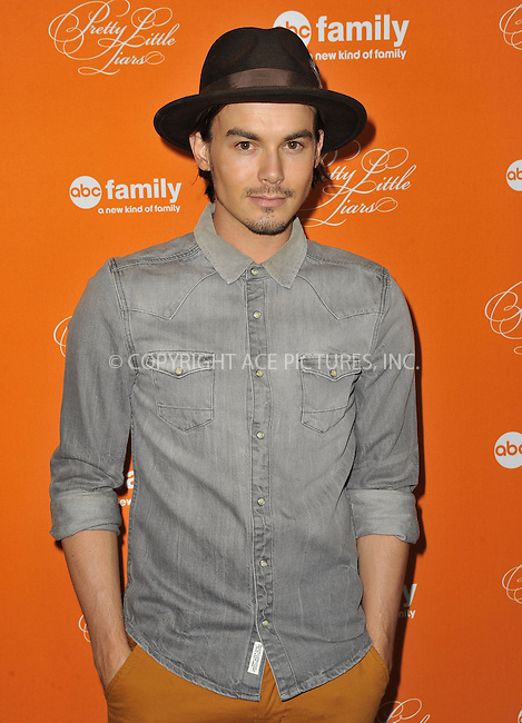 WWW.ACEPIXS.COM....October 16 2012, LA....Tyler Blackburn arriving at ABC Family's 'Pretty Little Liars' Halloween Episode Premiere at Hollywood Forever on October 16, 2012 in Hollywood, California. ......By Line: Peter West/ACE Pictures......ACE Pictures, Inc...tel: 646 769 0430..Email: info@acepixs.com..www.acepixs.com