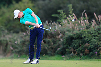 Mark Power from Ireland on the 17th fairway during Round 3 Singles of the Men's Home Internationals 2018 at Conwy Golf Club, Conwy, Wales on Friday 14th September 2018.<br /> Picture: Thos Caffrey / Golffile<br /> <br /> All photo usage must carry mandatory copyright credit (&copy; Golffile | Thos Caffrey)