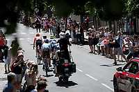 breakaway group through Rodez<br /> <br /> Stage 10: Saint-Flour to Albi (217km)<br /> 106th Tour de France 2019 (2.UWT)<br /> <br /> ©kramon