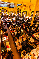 Bouillon Chartier restaurant, Paris, France. It was classified as a historic monument in 1989.