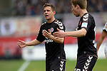 GER - Sandhausen, Germany, March 19: During the 2. Bundesliga soccer match between SV Sandhausen (white) and FC ST. Pauli (grey) on March 19, 2016 at Hardtwaldstadion in Sandhausen, Germany. (Photo by Dirk Markgraf / www.265-images.com) *** Local caption *** Sebastian Maier #29 of FC St. Pauli