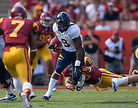 September 22, 2012: California's C.J. Anderson runs down the field during a game against USC at the Los Angeles Memorial Coliseum, Los Angeles, Ca  USC defeated California 27- 9