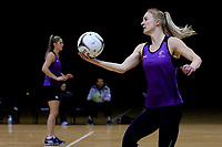 01.09.2017  Shannon Francois during the Silver Ferns training session ahead of the Quad Series at the ILT Stadium Southland in Invercargill. Mandatory Photo Credit ©Copyright photo: Dianne Manson/Michael Bradley Photography